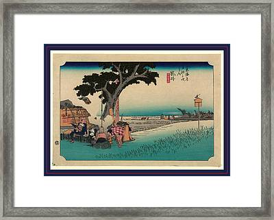 Fukuroi, Ando Between 1833 And 1836, Printed Later Framed Print