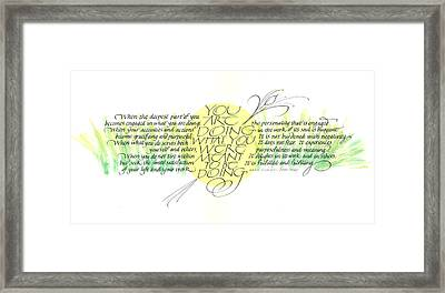Fulfillment Framed Print