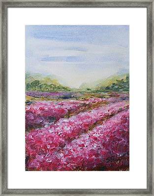 Framed Print featuring the painting Full Bloom by Jane  See