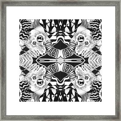 Full Circle - A Back And Forth Compilation Framed Print by Helena Tiainen