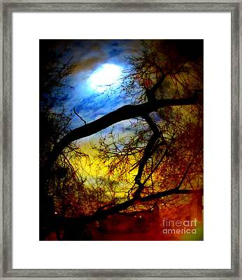Full Crow Moon Framed Print by Maria Scarfone