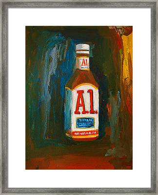 Full Flavored - A.1 Steak Sauce Framed Print
