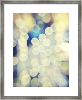 Full Frame Shot Of Defocused Lights Framed Print by Alex Ortega / Eyeem