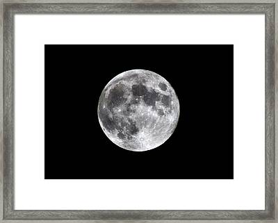 Framed Print featuring the photograph Full Moon by Aaron Berg