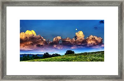 Full Moon And Clouds Framed Print by Thomas R Fletcher
