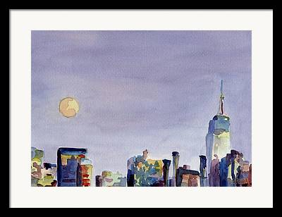 City Buildings Paintings Framed Prints