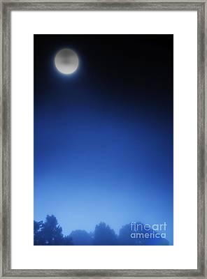 Full Moon And Fog Framed Print by Thomas R Fletcher