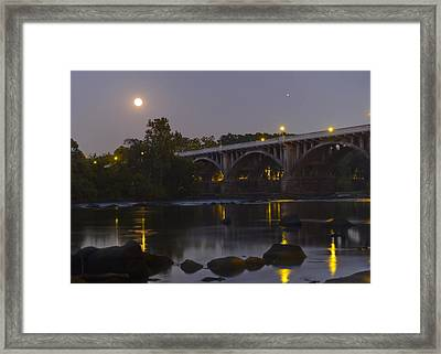 Full Moon And Jupiter-1 Framed Print