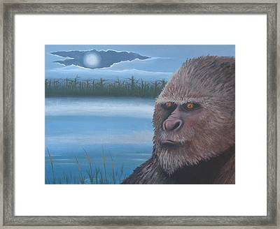 Full Moon At Boggy Creek Framed Print