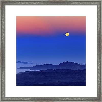 Full Moon At Dawn Framed Print by Babak Tafreshi