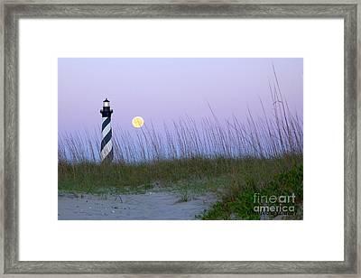 Full Moon At Hatteras Framed Print