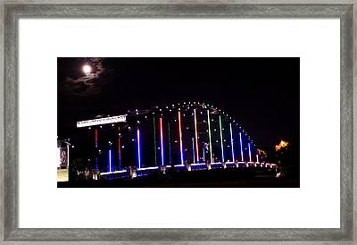 Full Moon At Martin Luther King Junior Bridge Framed Print by Dan Sproul