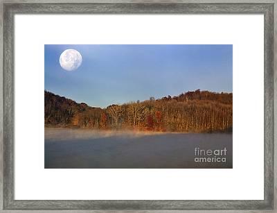Full Moon Big Ditch Lake Framed Print by Thomas R Fletcher