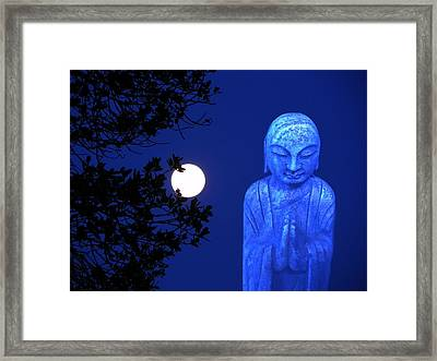 Full Moon Buddha Framed Print