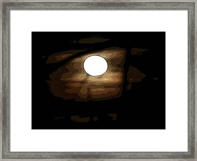 Full Moon Framed Print by Carolyn Reinhart