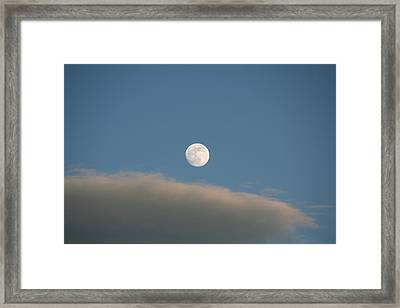 Framed Print featuring the photograph Full Moon by David S Reynolds