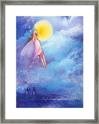 Full Moon Fairy Nocturne Framed Print