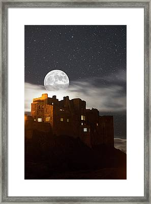 Full Moon Glowing In A Starry Sky Framed Print