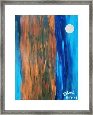 Full Moon In Denver V2 Framed Print
