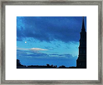 Full Moon In The Holy City Optimized Framed Print