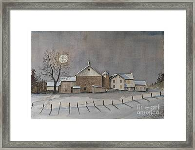 Full Moon January Framed Print
