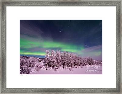 Full Moon Lights Framed Print by Priska Wettstein
