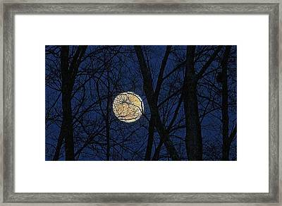 Full Moon March 15 2014 Framed Print