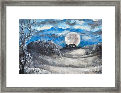 Full Moon Framed Print by Martin Capek