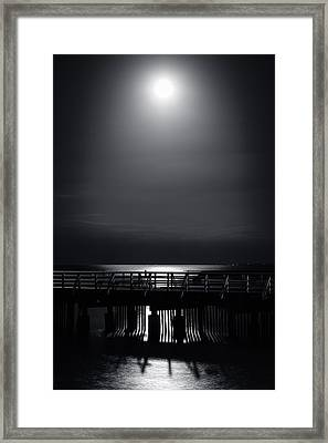 Full Moon Over Bramble Bay Framed Print