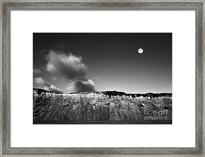 Full Moon Over Cape Cod Framed Print by Diane Diederich