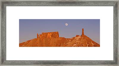 Full Moon Over Castleton Tower, Castle Framed Print by Panoramic Images