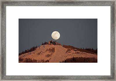 Full Moon Over Hazies Framed Print