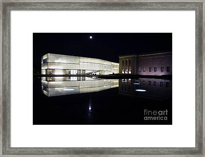 Full Moon Over Nelson Atkins Museum In Kansas City Framed Print by Catherine Sherman