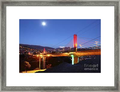Full Moon Over Triple Bridges La Paz Framed Print by James Brunker