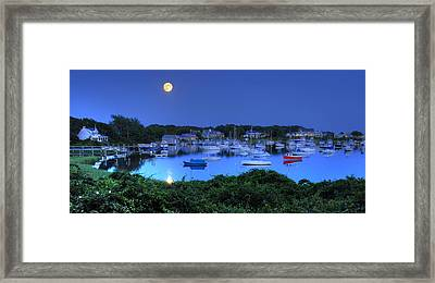 Full Moon Over Wychmere Harbor Framed Print