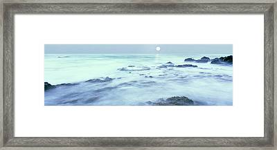 Full Moon Presides Over The Baja Framed Print by Panoramic Images