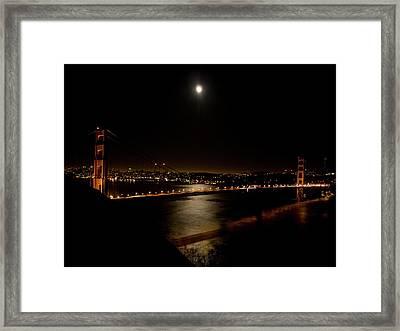 Full Moon Rising Framed Print by Bill Gallagher