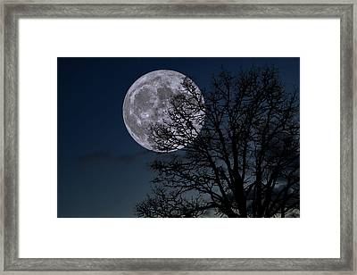 Framed Print featuring the photograph Full Moon Rising by Dennis Bucklin