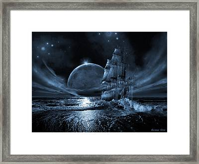 Full Moon Rising Framed Print by George Grie