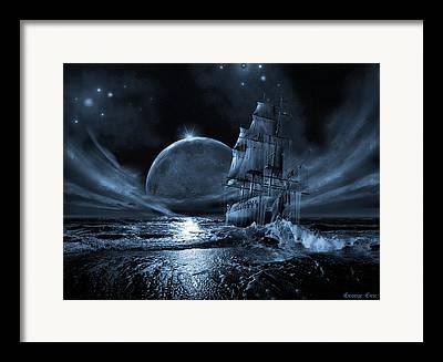 Ghost Boat Framed Prints