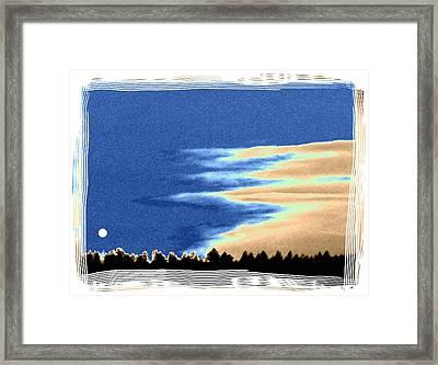 Full Moon Rising Framed Print by Will Borden