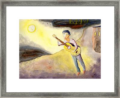 Full Moon Serenade  Framed Print