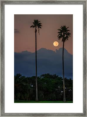 Full Moon Setting Framed Print