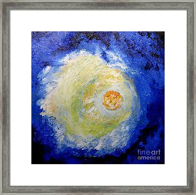 Framed Print featuring the painting Full Moon by Susanne Baumann