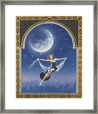 Full Moon Swing Framed Print by Nickie Bradley