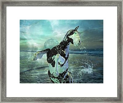 Full Moon Twist And Shout Framed Print by Betsy Knapp