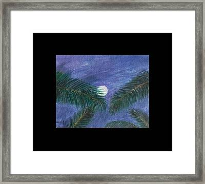 Full Moon Framed Print by Usha Rai