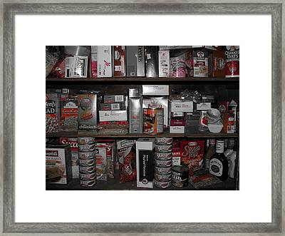 Full Pantry Framed Print by Sherman Perry