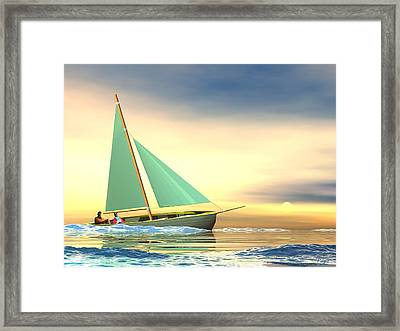 Full Sail Framed Print by John Pangia