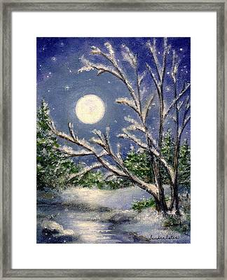 Full Snow Moon Framed Print